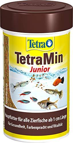 TetraMin Junior (spezielles Wachstumsfutter für heranwachsende Jungfische ab 1 cm Länge, mit Präbiotika für verbesserte Körperfunktionen und Futterverwertung), 100 ml Dose
