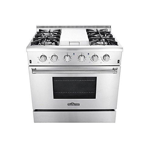 Thor Kitchen HRG3617U Gas Range, 36 in, Stainless Steel