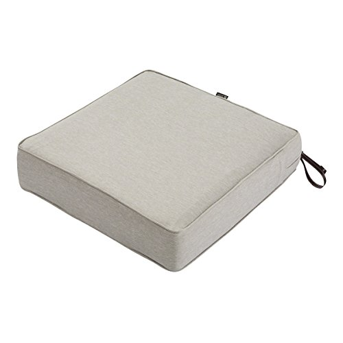 Classic Accessories Montlake WaterResistant 21 x 21 x 5 Inchhick Patio Seat Cushion Heather Grey
