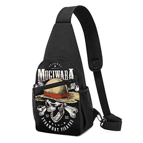 Sombrero de paja Piratas Sling Bag Pequeño Bolso de hombro Cintura Messenger Mochila Viaje al aire libre Montañismo Paquetes