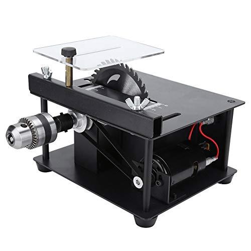 Mini seghe da tavolo, mini sega da banco da banco 110-240 V spina europea, multifunzione per lavori pesanti per la lavorazione del legno