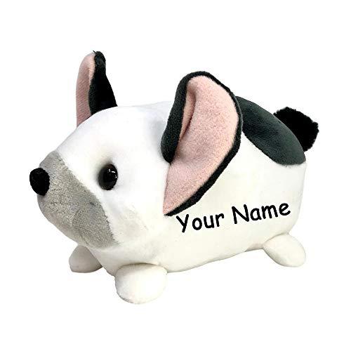 Personalized French Bulldog Frenchie Puppy Macaroon Plush Stuffed Animal Toy with Custom Name