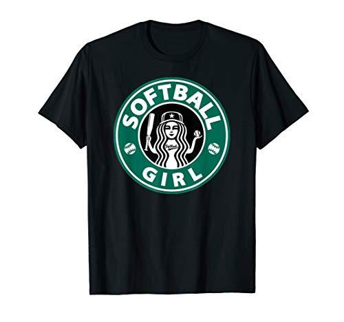 Girls Softball Logo Great Team Gift for Teen Players or Mom T-Shirt