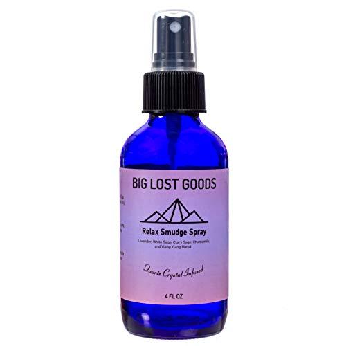 Big Lost Goods Relax White Sage & Lavender Smudge Spray + Calming Essential Oil Blend (4 oz)
