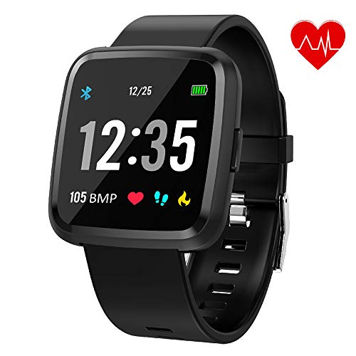 Juboury Smartwatch, Fitness Tracker Smart Watch Armband Sport Uhr Aktivitätstracker Schrittzähler Schlaftracker Voller Touchscreen für Herren Damen und Kinder Kompatibel für iPhone Android Handy