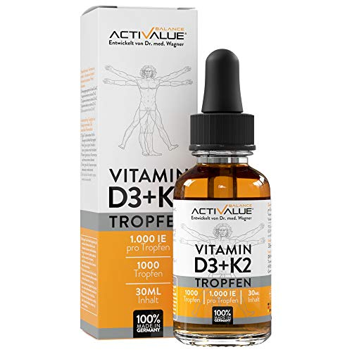 Vitamin D3 + K2 Tropfen 30ml von Dr.med. Wagner - Premium: 99,7+% All-Trans (K2VITAL® von Kappa) + hoch bioverfügbares D3 - Laborgeprüft, hochdosiert, flüssig und hergestellt in Deutschland