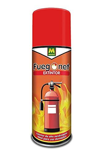 Extintor en spray Fuegonet de 500g (650ml) - Ideal para casa, coche, camping, embarcación, etc - Apto para fuegos de clase A, B, E y F