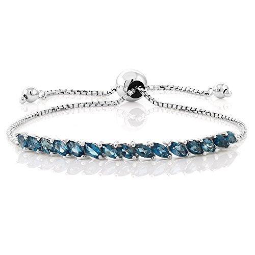 London Blue Topaz Women's Tennis Bracelet by Gem Stone King