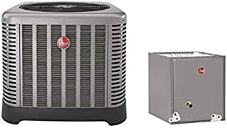 2.5 Ton Rheem 14 SEER R410A Air Conditioner Condenser with 17.5' Wide Multi-Position Cased Evaporator Coil