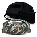 JBL Boombox 2 IPX7 Waterproof Portable Bluetooth Speaker Bundle with gSport Deluxe Travel Case and Accessory Pouch (Green Camo)