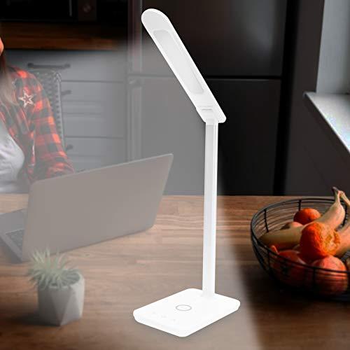 Faceuer Lámpara de Mesa, Cargador inalámbrico de Carga rápida de la protección Ocular del Micro USB 10W LED para el Trabajo para el Estudio