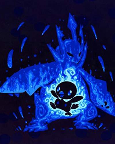 Bordado de diamantes dibujos animados Pokemon 5D DIY diamante pintura cuadrado completo / redondo mosaico de diamantes imágenes de diamantes de imitación decoración del hogar RoundDrill30x40cm 555-12