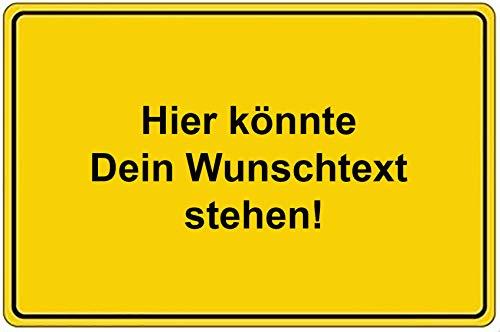 norrun Kühlschrank Magnetschild Ortsschild Ortseingangsschild Wunschname … (Deutschland 1)