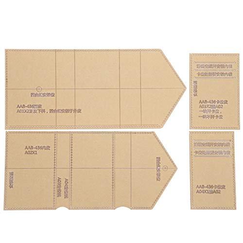 DAUERHAFT Exquisite klare Acryl Brieftasche Vorlage Leder Muster Vorlage für Card Bag Coin Geldbörse