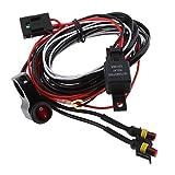 Kit Cablaggio Faro Luce Lavoro Di Alimentazione 12V Con Interruttore Moto