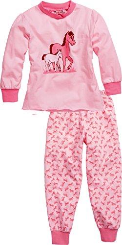 Playshoes Schlafanzug Single-Jersey Pferde Deux pièces Pyjama, Rose (Original 900), (Taille Fabricant: 110) Fille