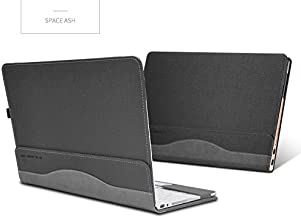 Hp Spectre X360 13.3 Inch Case, PU Leather Folio Stand Hard Cover for Hp Spectre x360 13.3 2 in 1 Laptop Sleeve,Gray
