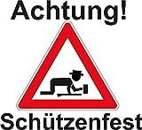 Fanshop Lünen Fahne - Flagge - Schützenfest - Achtung - Schützen - Fest - 90x150 cm - Hissfahne mit Ösen -