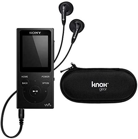 Sony NW-E394 Walkman 8GB Digital Audio Player (Black) with Knox Gear Hardshell Case