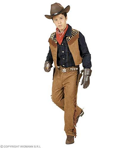 WIDMANN- Costume Cowboy o Indiano Bambino, Marrone, 158 cm (11-13 anni), 42778