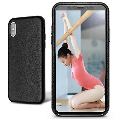 Mking Tech Mobiele telefoonhoesje/holster voor iPhone X/XS Max/XR/XS [Apple 9 recht bord zonder deksel] for iPhone X/XS Zwart