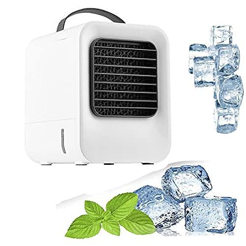 YMXLXL Enfriador de Aire Portátil, Regulación de Velocidad Continua, Enfriador de Aire Evaporativo USB, para la Familia, el Estudio, el Dormitorio (Tiempo de Enfriamiento: 5-10 Horas)