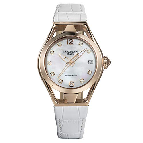 Locman Italy Reloj de mujer Montecristo Lady oro rosa PVD con diamantes aprox. 0,10 ct. Ref. 0526