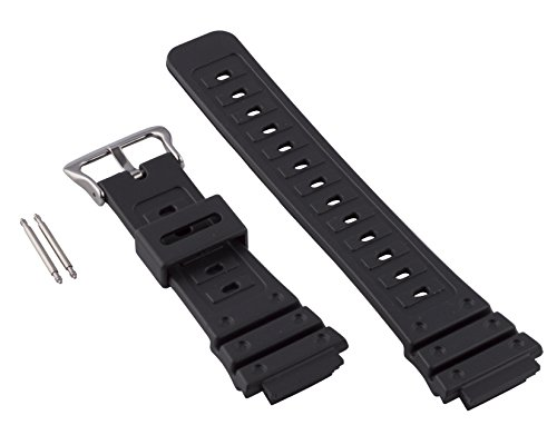 Gilden 18mm Black Polyurethane Long Watch Strap 017280, fi...