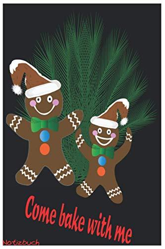 Notizbuch Lebkuchen backen Weihnachten Design Geschenk