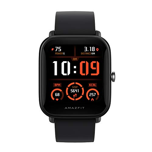 """Amazfit Bip U Pro NYSE Listed Smart Watch with SpO2, Built-in GPS, Built-in Alexa, Sleep, Stress Monitor, 1.43"""" Color Display (Black)"""
