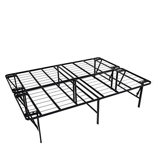 Why Choose intelliBASE Lightweight Easy Set Up Bifold Platform Black Metal Bed Frame, Queen