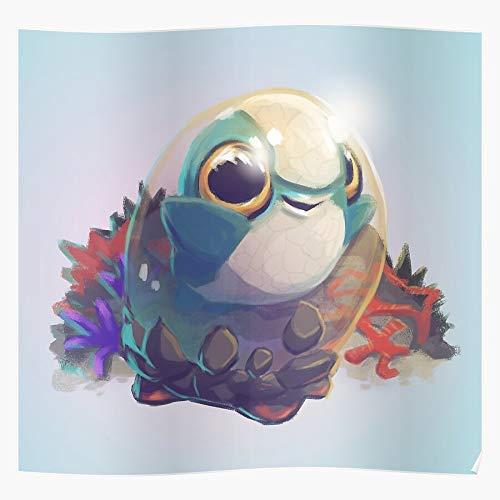 Alchemy Ocean Sea Baby Subnautica Cuddlefish Monster Game Indie Das eindrucksvollste und stilvollste Poster für Innendekoration, das derzeit erhältlich ist