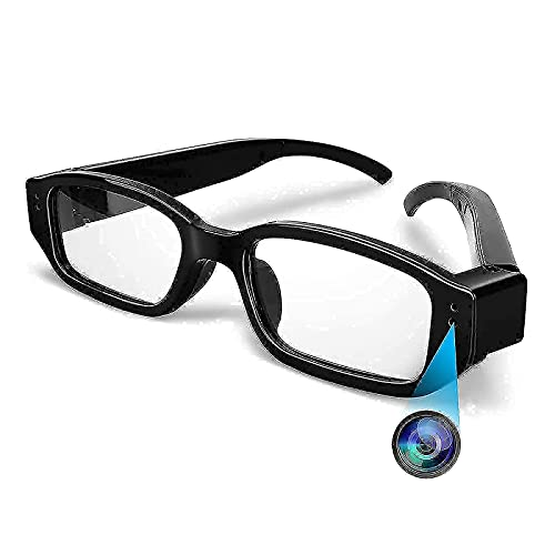 Camera Glasses, HD 1080p Video Glasses Wearable Camera Mini Video Recorder, A Great Gift for Your Family and Friends