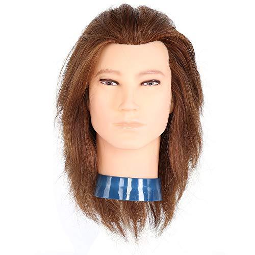 Kappers Training Hoofd, Human Hair Mannequin Hoofd Pruik voor Styling Praktijk Kappers Training Pruik voor Wassen, Curling, Verven, Knippen en Haarstyling