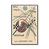 Carteles e impresiones de la exposición de la Bauhaus cuadro de arte de pared impreso abstracto pintura de lienzo sin marco familiar n. ° 1 20x30cm