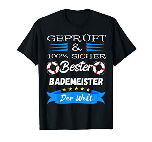 Bester Bademeister Schwimmlehrer Schwimmbad Rettungskraft T-Shirt