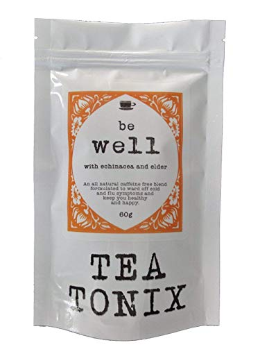 BE Well Cold and Flu Tea with Echinacea, Elder, Ginger, and Goldenseal 60g - to Help Boost Immunity and Get You Through The Cold Season