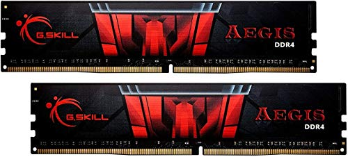 G.Skill Aegis Series 32GB (2 x 16GB) 288-Pin SDRAM PC4-25600 DDR4 3200 CL16-18-18-38 1.35V Dual Channel Desktop Memory Model F4-3200C16D-32GIS