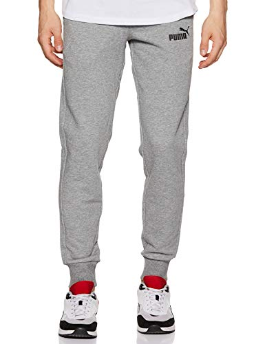 PUMA Ess Logo Pants TR cl, Pantaloni Uomo, Grigio (Grey Heather), M