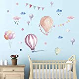 Cartoon Ballon Heißluftballon Wandaufkleber für Babyzimmer Dekorationen Tapete Kinderzimmer...