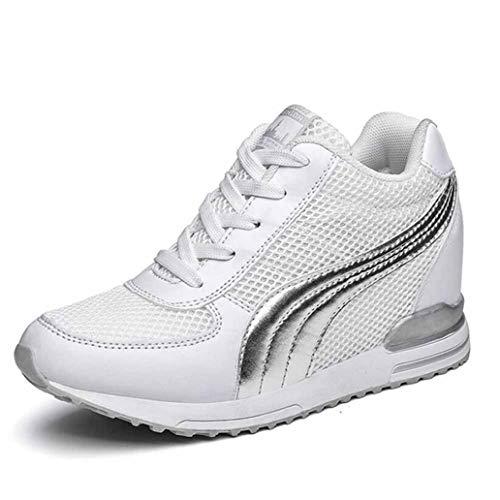 Dames Plateau Wedges Sneakers Hoogte Verhoogd Sport Running Wandelschoenen Mesh Veterschoenen Ademend Casual Chunky Trainers