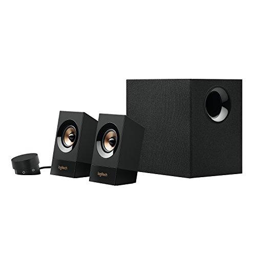 Logitech Z533 2.1 Lautsprecher-System mit Subwoofer, Kraftvoller Sound, 120 Watt Spitzenleistung, 3,5 mm Eingang, Kopfhörerbuchse, Multi-Device, Bedienelemente am Steuergerät, UK Stecker, PC/TV/Tablet