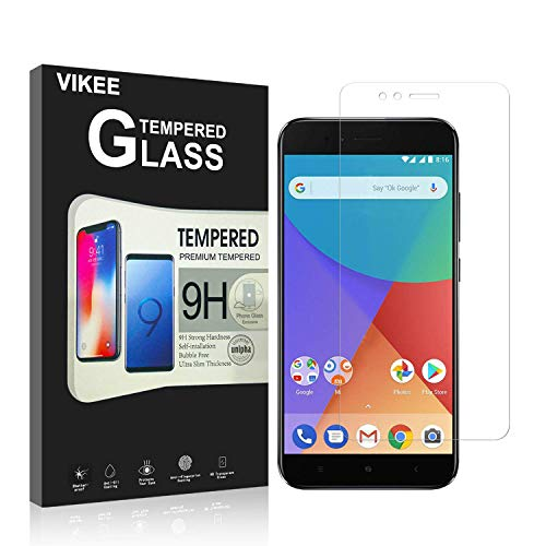 [2 Pack] Xiaomi Mi A1 Screen Protector, VIKEE Premium Tempered Glass 9H Scratch Protection Durable [Anti-Glare Ultra-Clear] [Anti-Fingerprint] [No Bubbles] for Xiaomi Mi A1