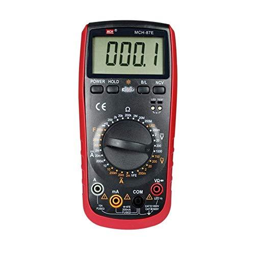LHQ-HQ Dgital medidor de alta precisión multímetro digital portátil multímetro de alta precisión rango multímetro zumbador de alarma portátil
