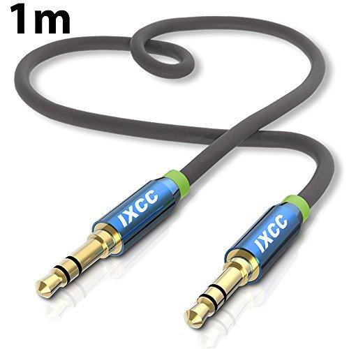 iXCC 3.5mm ステレオミニプラグ オーディオケーブル AUX接続 高音質 金メッキ仕様 ヘッドホン イヤホン ス...