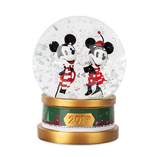 Dis Mickey and Minnie Mouse Holiday Snowglobe 2019