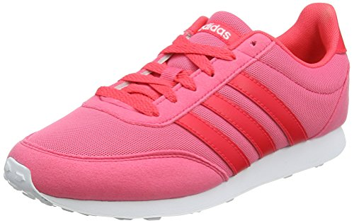 adidas Damen V Racer 2.0 Laufschuhe, Real Pink/Shock Red/Footwear White 0, 40 EU