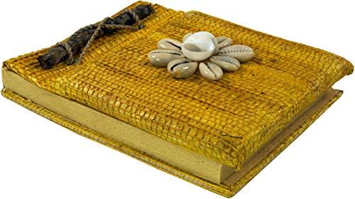 Guru-Shop Klein Notitieboekje - Geel, 12x10x2 cm, Notitieboekjes Dagboeken