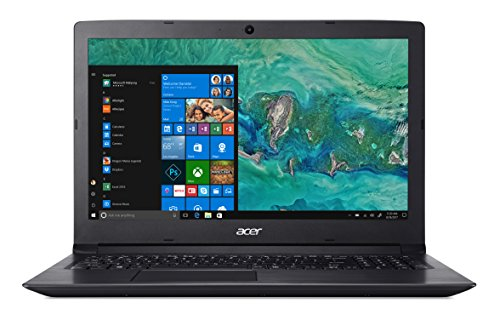 Acer Aspire 3 A315-53-510N Notebook con Processore Intel Core i5-8250U, RAM da 8 GB DDR4, 1 TB HDD, Display da 15.6' HD LED LCD, Scheda grafica Intel UHD 620, Windows 10 Home, Nero