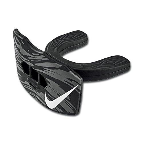 Nike Game-Ready Lip Protector Mundschutz mit Lippenschutz und Strap, Senior, schwarz